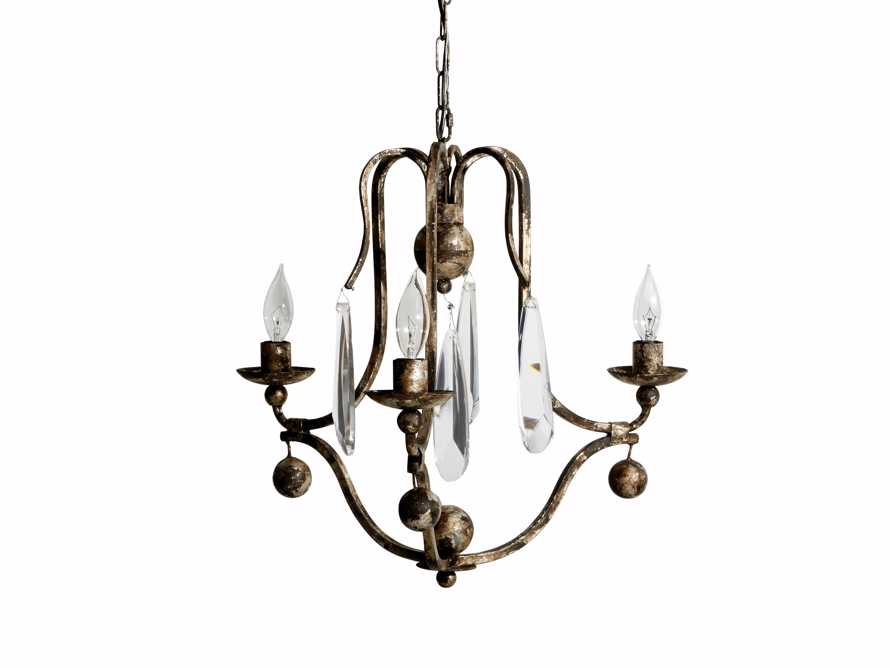"Bonita 18"" Three Light Chandelier in Silver Clay, slide 3 of 5"
