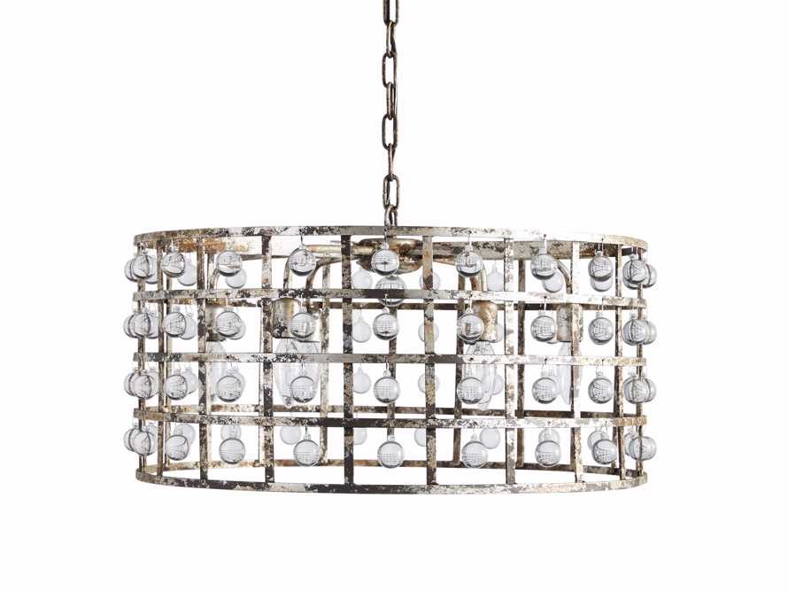 LA CAGE 5-LIGHT RECTANGULAR CHANDELIER IN SILVER CLAY, slide 5 of 5
