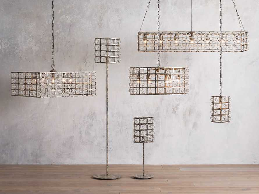 LA CAGE 5-LIGHT RECTANGULAR CHANDELIER IN SILVER CLAY, slide 3 of 5