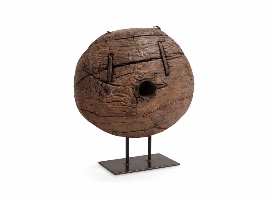 """20"""" Wooden Cart Wheel On Stand, slide 3 of 5"""