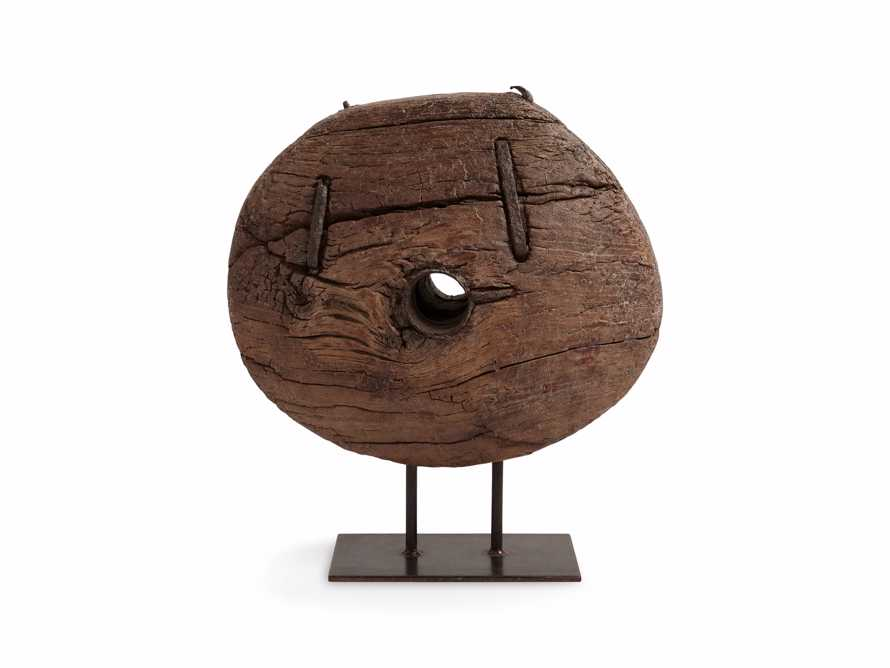 """20"""" Wooden Cart Wheel On Stand, slide 5 of 5"""