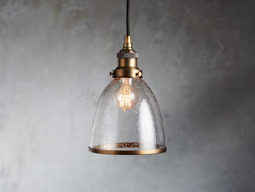 Industrial Cloche Pendant in Antiqued Brass, slide 1 of 7