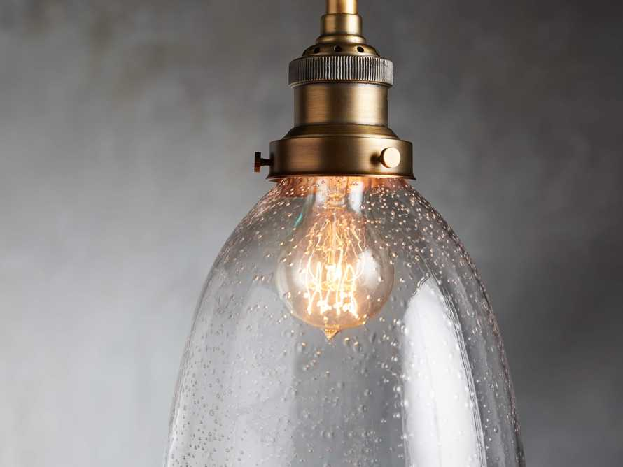 Industrial Cloche Pendant in Antiqued Brass, slide 2 of 7