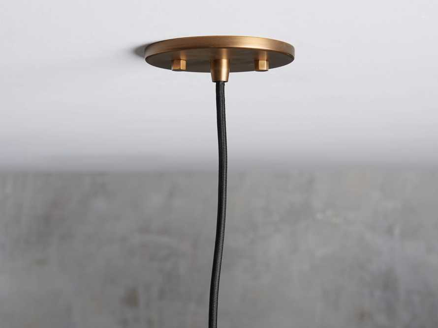 Industrial Cloche Pendant in Antiqued Brass, slide 3 of 7