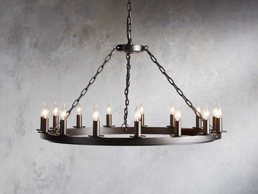 "Ferris 40"" Chandelier With Blackened Finish, slide 1 of 3"