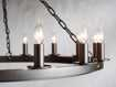 """Ferris 40"""" Chandelier With Blackened Finish"""