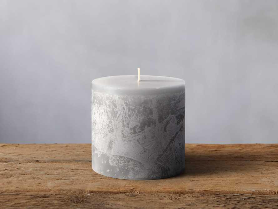 "Rustic 3"" Pillar in Dove Grey"
