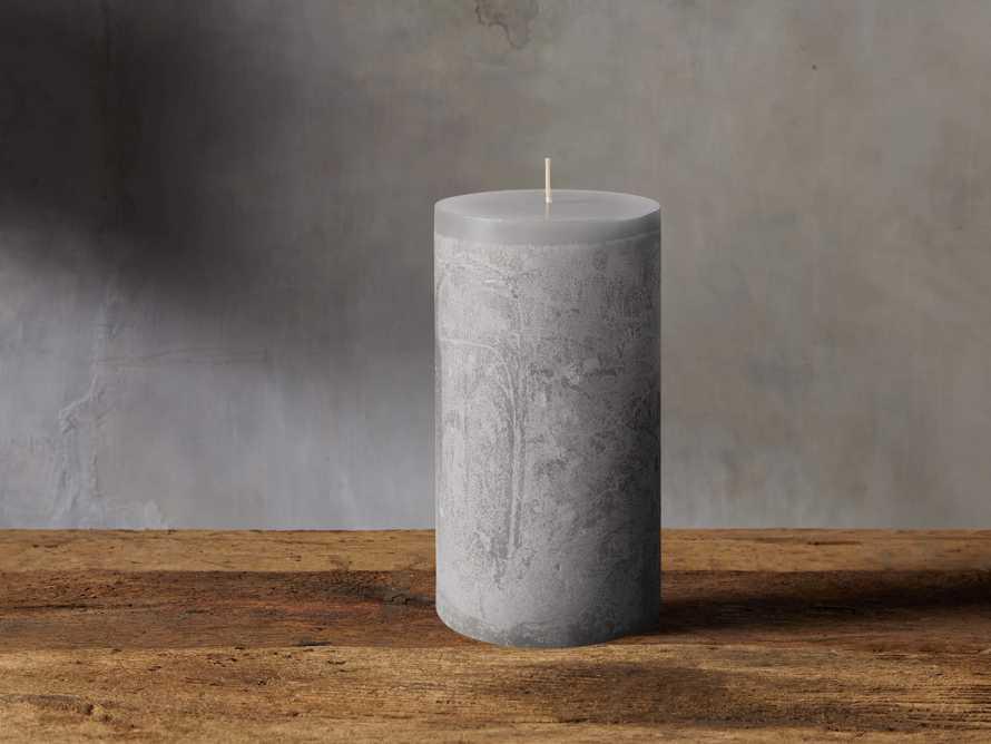 "Rustic 6"" Pillar in Dove Grey, slide 2 of 4"