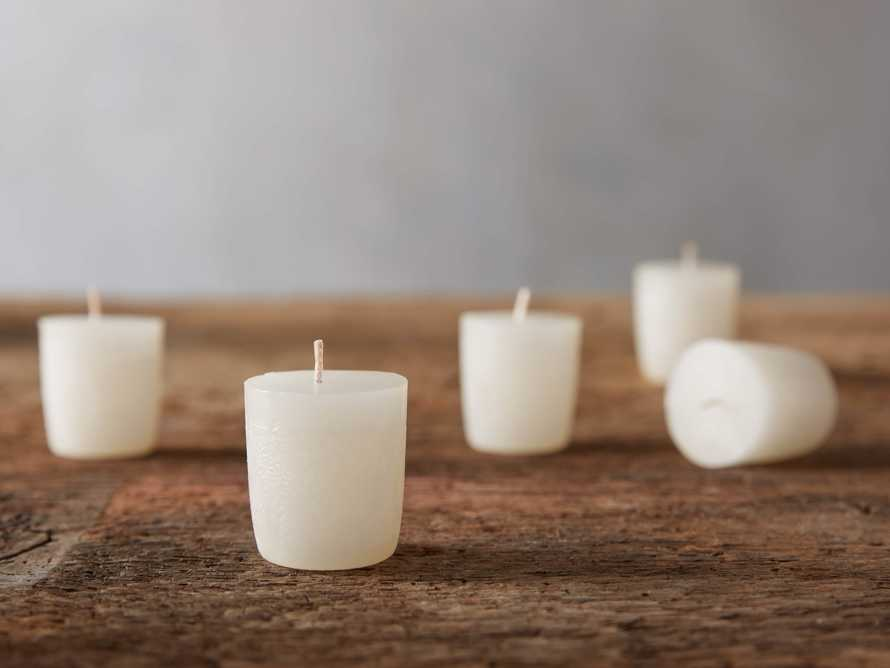 "Rustic 1.5"" Votive in Ivory (set of 12)"