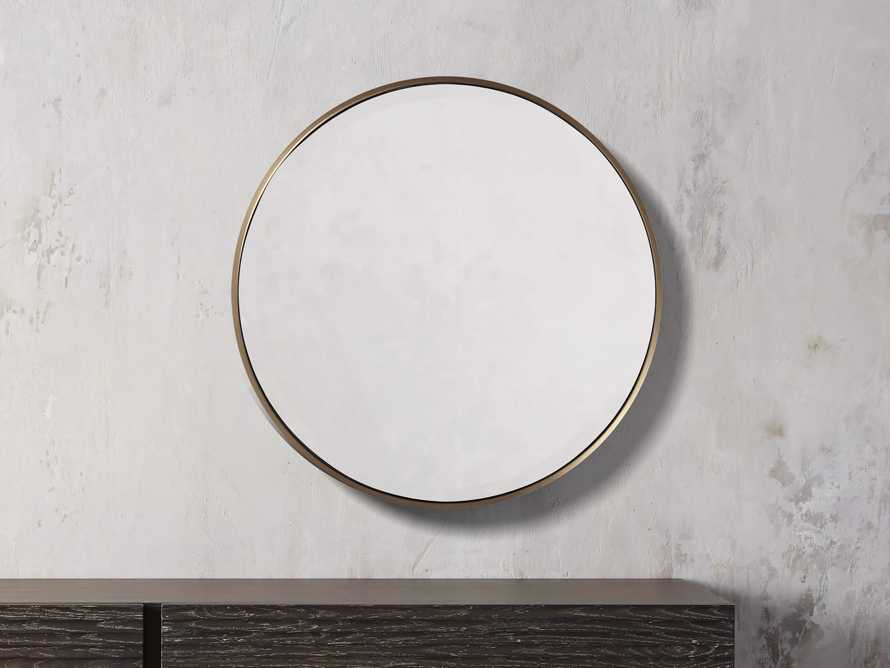 "Anders 24"" Round Mirror, slide 1 of 4"