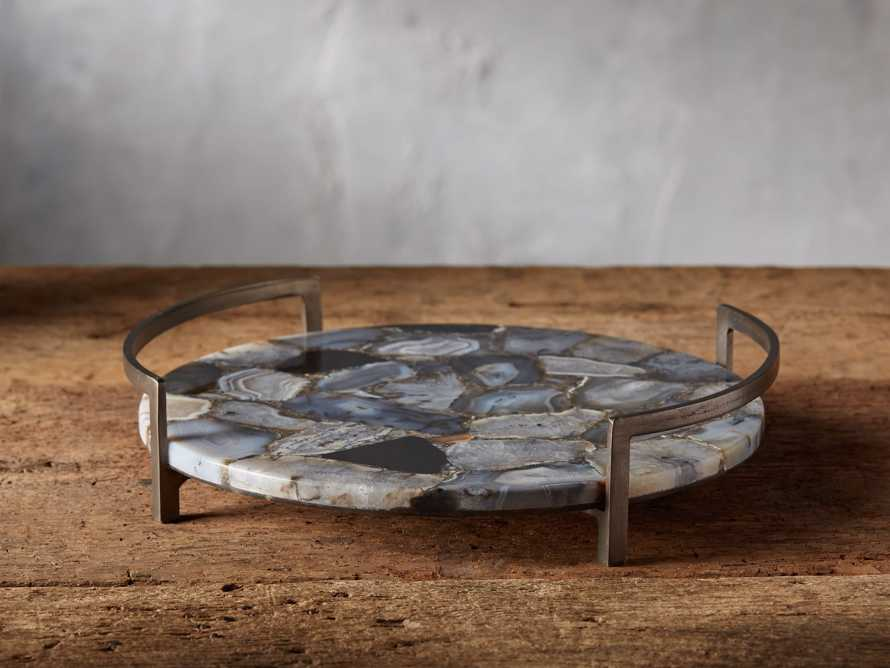 "14.5"" Ludlow Black Agate Tray"