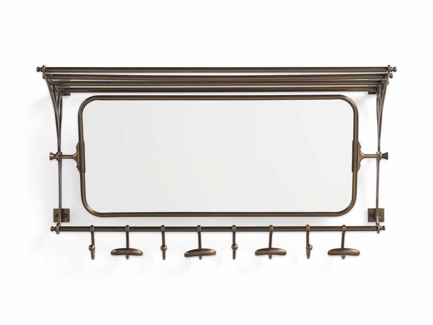 8 Hook Grand Chester Mirror in Brass, slide 2 of 4