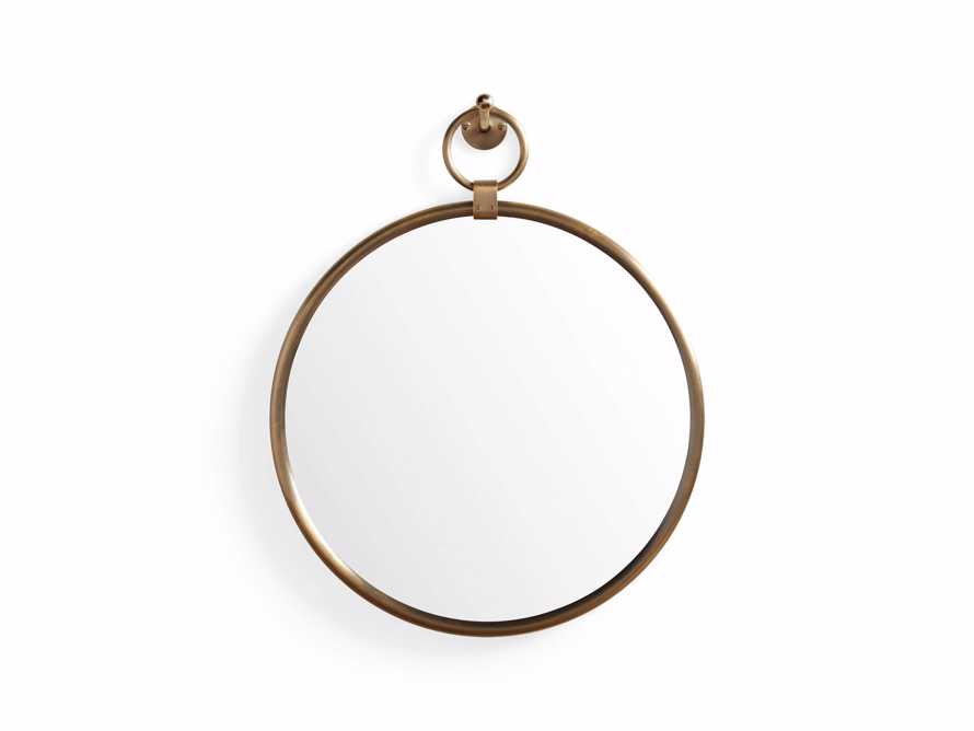 "Thomas 18"" Brass Round Mirror With Hook, slide 3 of 3"