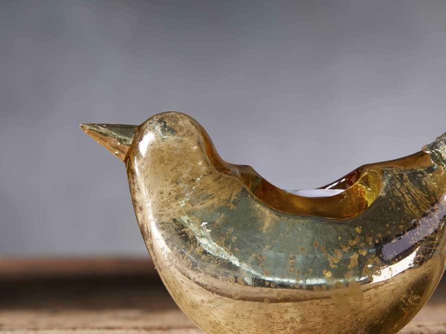 Pasaro Antique Gold Bird Tealight Holder