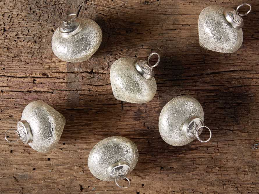 Ice Turnip Ornament in Silver set