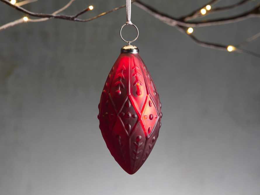 Ditsy Floral Ornament in Red (Set of 4), slide 1 of 3