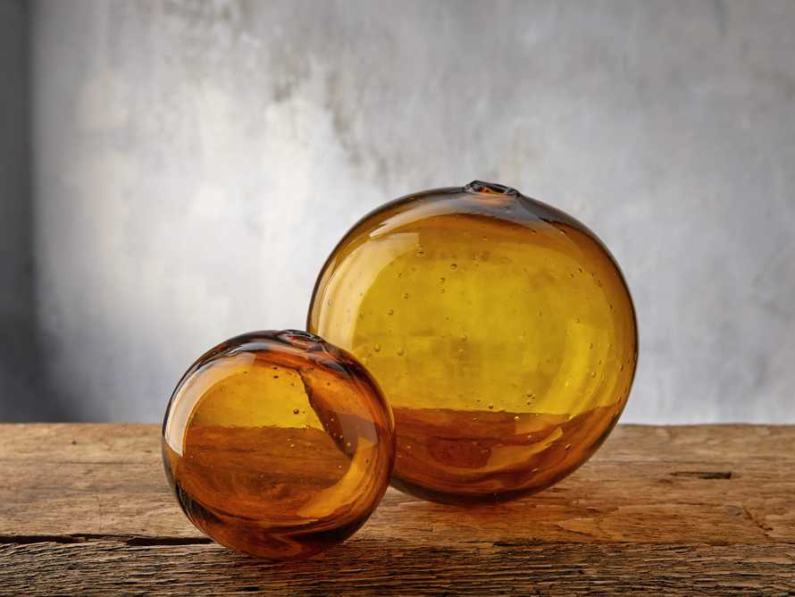 Small Amber Bubble Sphere, slide 3 of 4