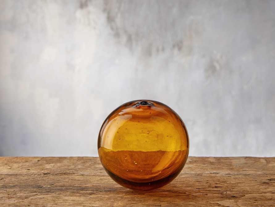Small Amber Bubble Sphere, slide 1 of 4