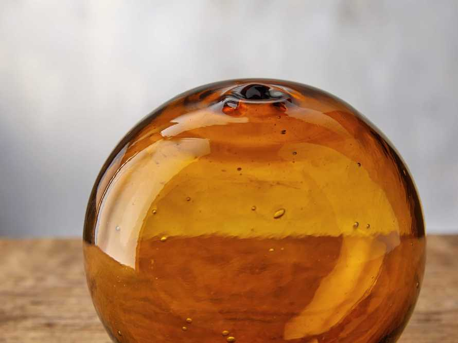 Small Amber Bubble Sphere, slide 2 of 4