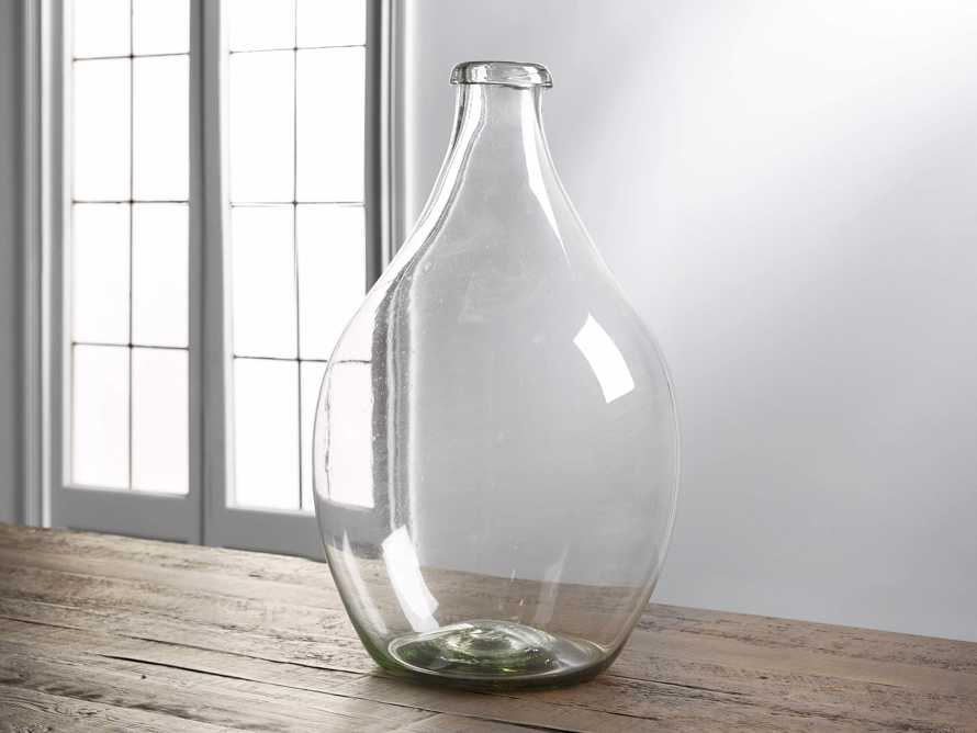 Recycled Glass Large Clear Demijohn, slide 1 of 8