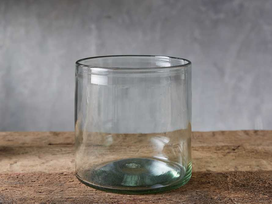 Recycled Glass Small Clear Cylinder