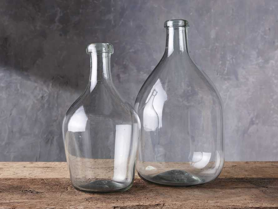 Recycled Glass Small Clear Demijohn, slide 3 of 10