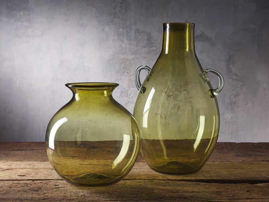 Colima Olive Round Vase, slide 2 of 2