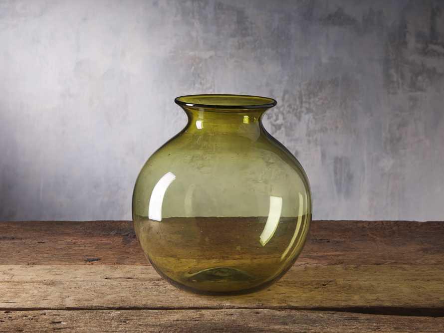 Colima Olive Round Vase, slide 1 of 2
