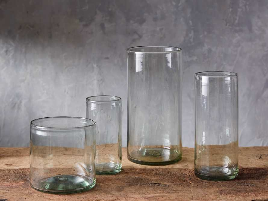 Recycled Hand-Blown Glass Clear Cylinder