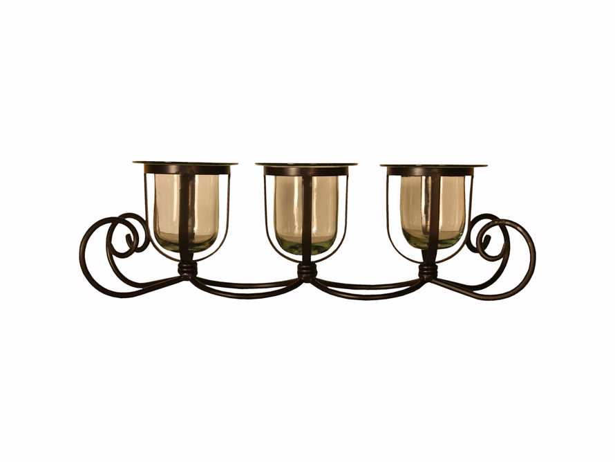 "3 Tier 25"" Iron Candle Holder"