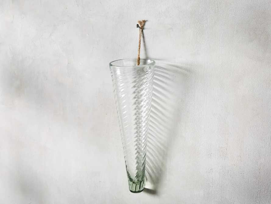"Glass 7"" Spiral Wall Vase, slide 1 of 3"