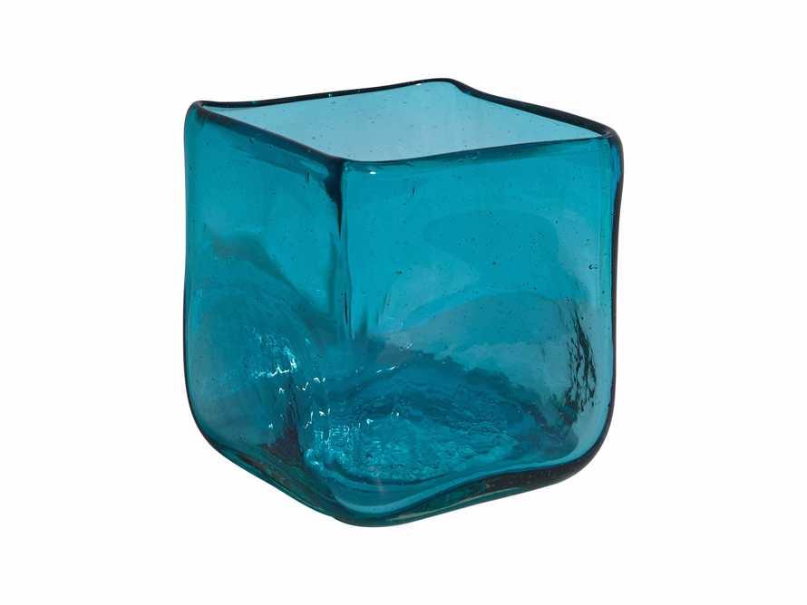 "Aqua 3"" Glass Cube Vase"