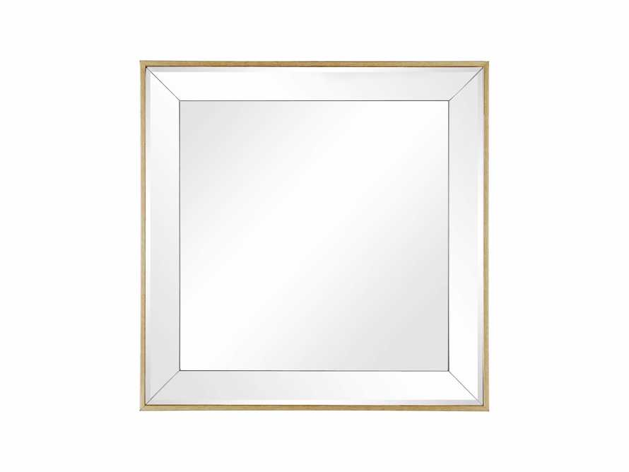"FELICITY 20"" SQUARE MIRROR IN GOLD"