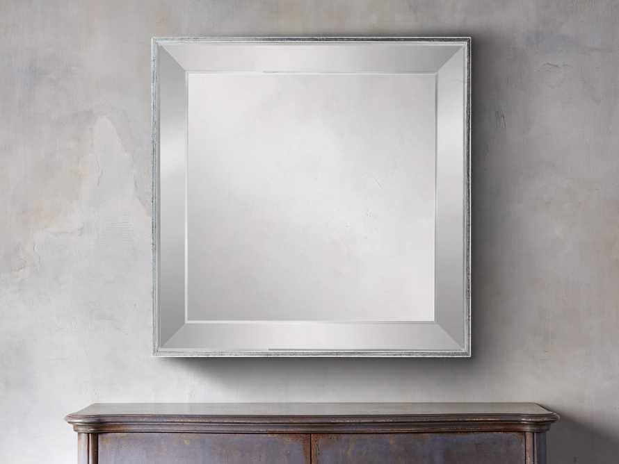 "FELICITY 20"" SQUARE MIRROR IN SILVER, slide 1 of 2"