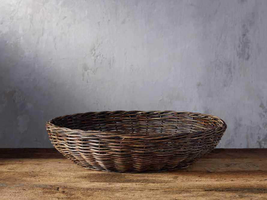 Vintage Shallow Basket, slide 1 of 3