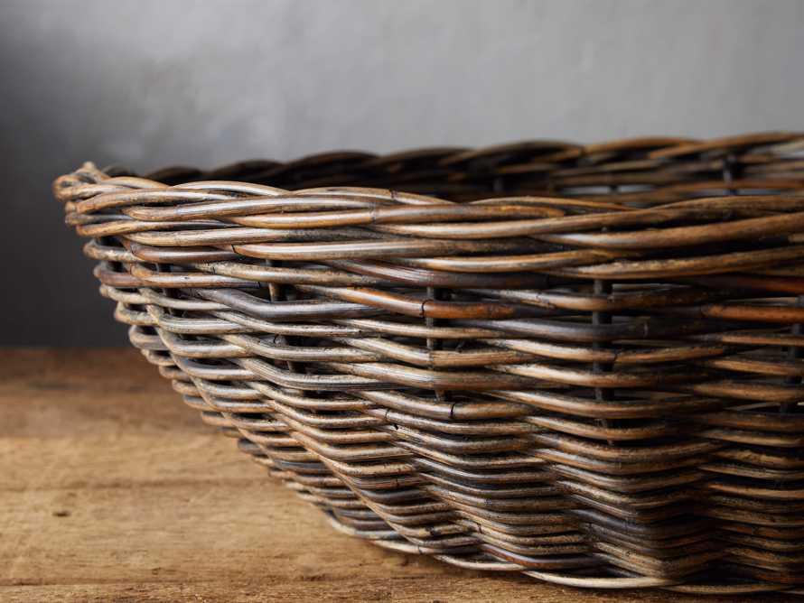 Vintage Shallow Basket, slide 2 of 3