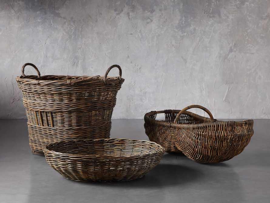 Vintage Shallow Basket, slide 3 of 3