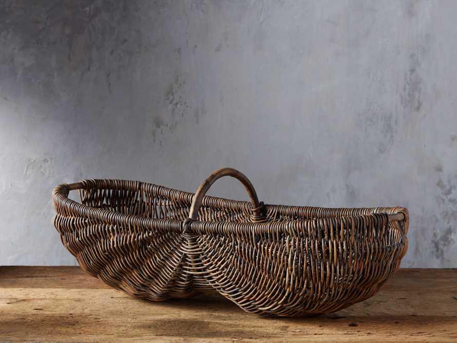 Vintage Basket with Handle, slide 1 of 4