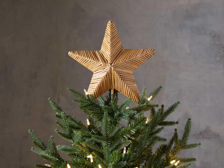 Rattan Star Tree Topper, slide 1 of 2