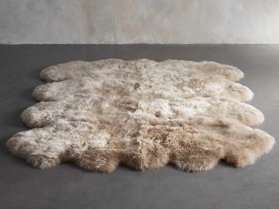 Sheepskin Wool 7' x 6' Rug in Linen, slide 2 of 3