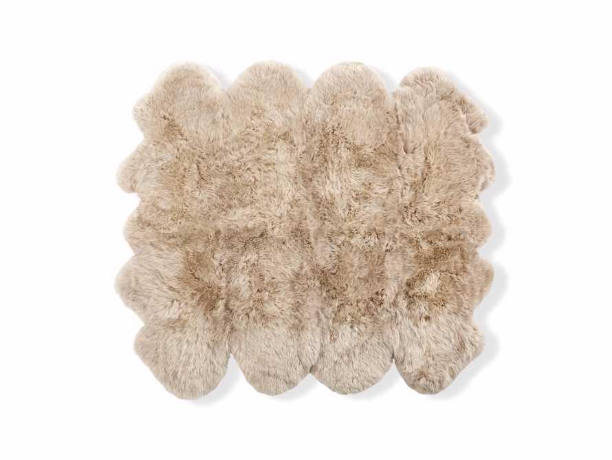 Sheepskin Wool 7' x 6' Rug in Linen, slide 3 of 3