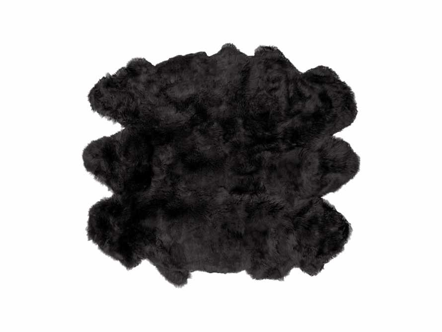 Sheepskin Wool 6' x 5' Rug In Black