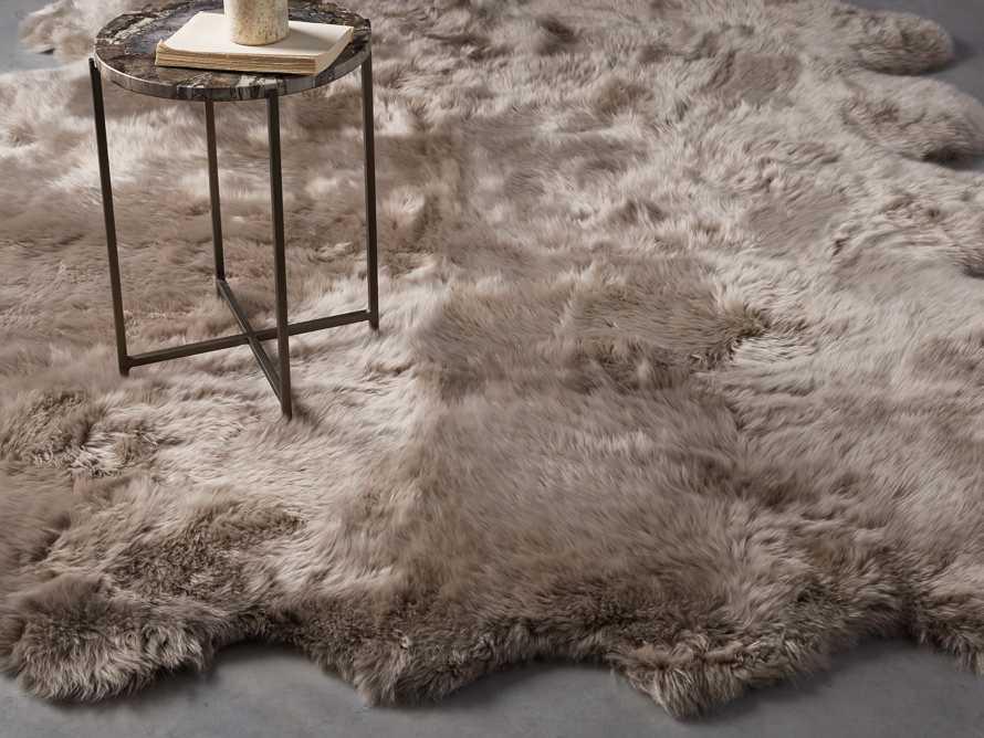 Sheepskin Wool 6' x 5' Rug In Vole, slide 1 of 3