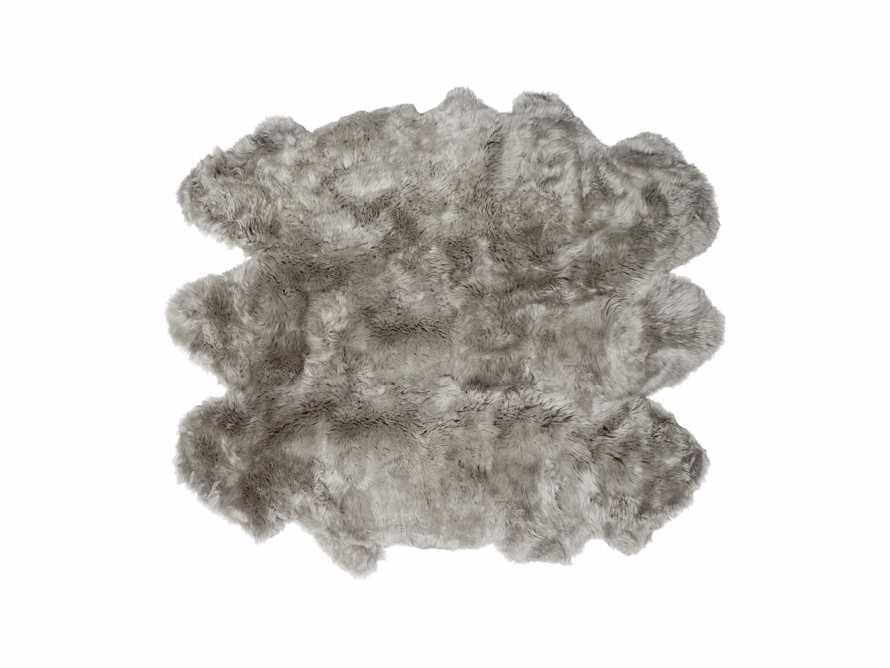 Sheepskin Wool 6' x 5' Rug In Vole, slide 2 of 3