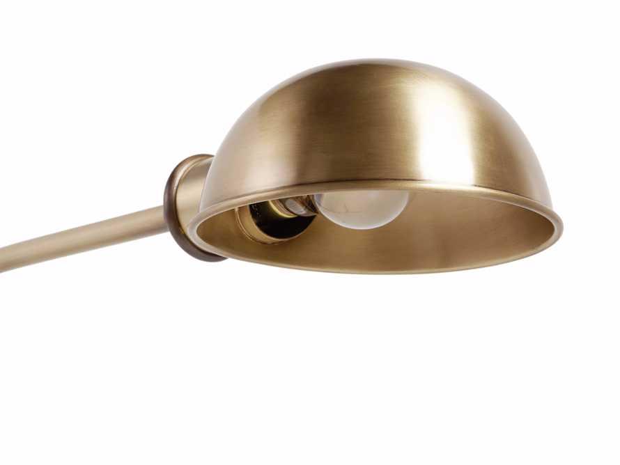 """Antoine 48"""" Brass Floor Task Lamp"""