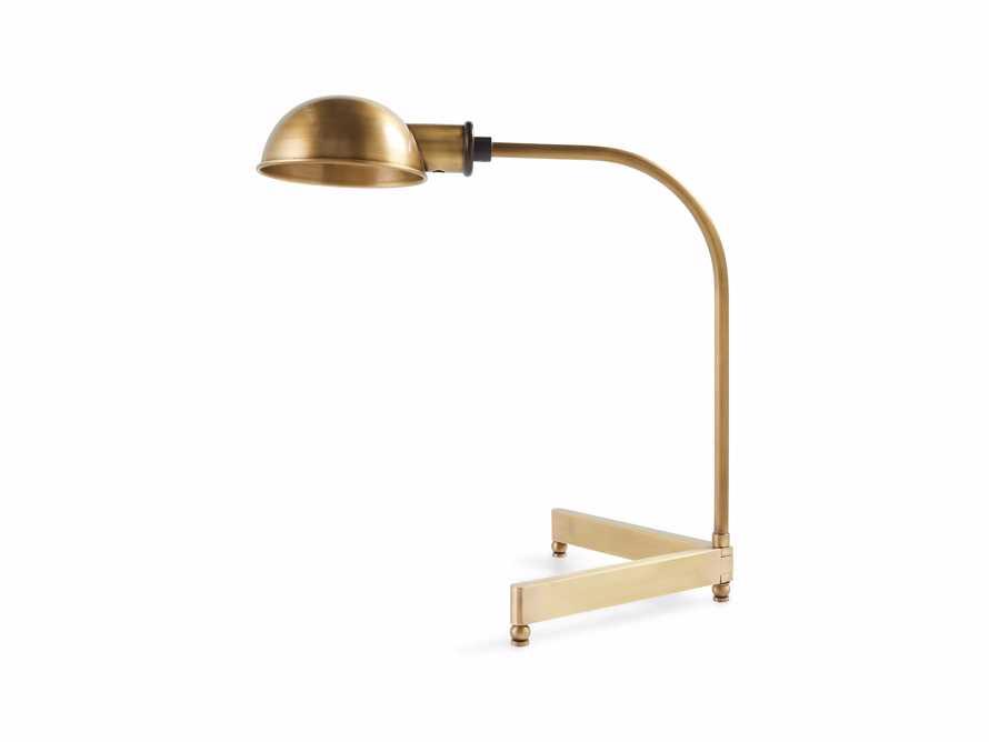 """Antoine 21"""" Brass Table Task Lamp"""
