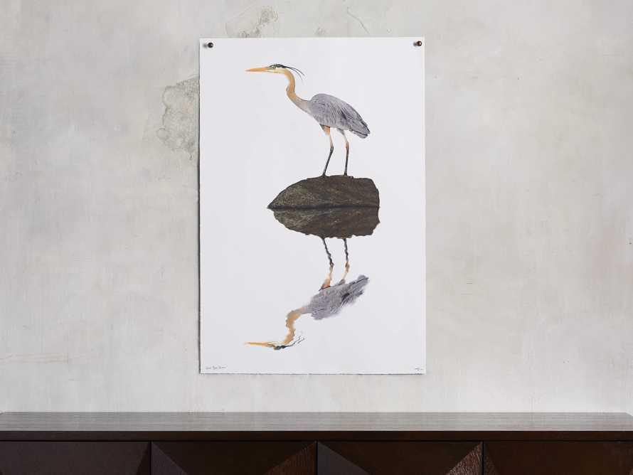 Blue Heron Print, slide 1 of 4