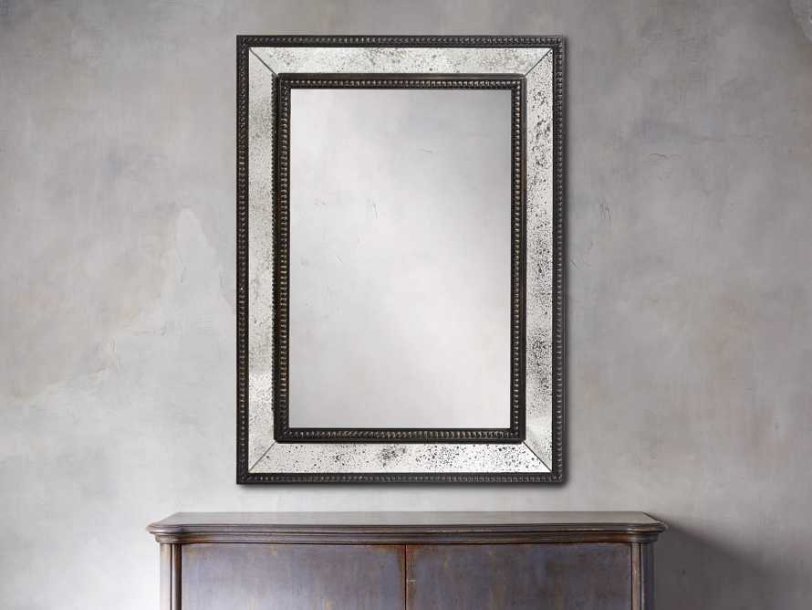 "SERANO 35"" X 48"" ANTIQUED FRAME MIRROR"