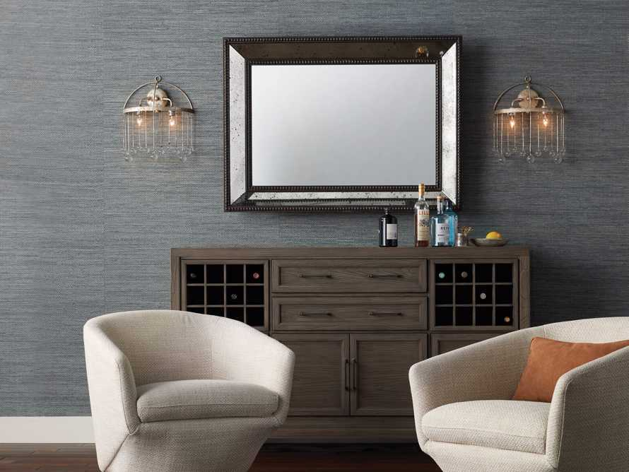"SERANO 35"" X 48"" ANTIQUED FRAME MIRROR, slide 5 of 5"