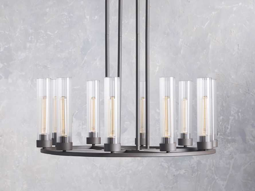 Andreas 10 light Chandelier, slide 2 of 7